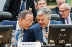 GENOCIDE PREVENTION CONFERENCE: WITH DIDIER REYNDERS AND BAN-KI-MOON