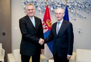 Tomislav Nikolić and Herman Van Rompuy