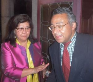 H.E. Mss the Ambassador of Philippines to Belgium with our publisher MiguelD.DESNERCK