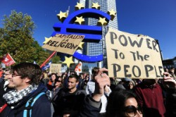 Protests in Frankfurt as ECB inaugurates new building #Germany #Frankfurt #ECB #Protests