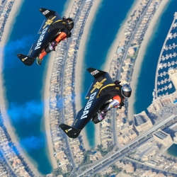 Historic flight over Dubai. The future of aviation. #dubai#aviation