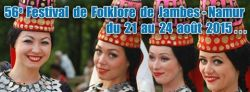 """56th. """"Folk Dances Festival of Jambes-Namur"""", from August 21st. till August 24th. #wallonia#culture"""