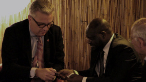 H.R.H Prince Laurent with H.E. the Ambassador of Tchad (2014)