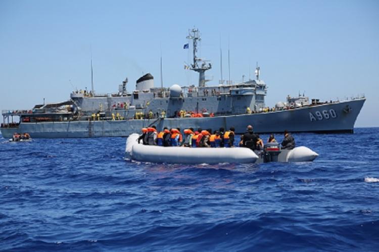 Le navire belge Godetia, pour l'opération Triton© Frontex , 2015   /  Source: EC - Audiovisual Service   /   Photo: Francesco Malavolta