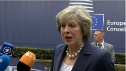 European Council, arrival and declaration of Theresa MAY, UK PrimeMinister