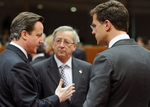 President Juncker facing UK and Dutch PMs