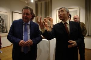 """Chinese Ambassador and Belgian Minister (c) """"Centre culturel de Chine à Bruxelles"""""""