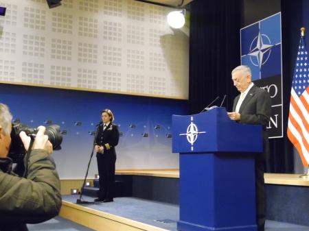 NATO: Mattis shiftsaccents