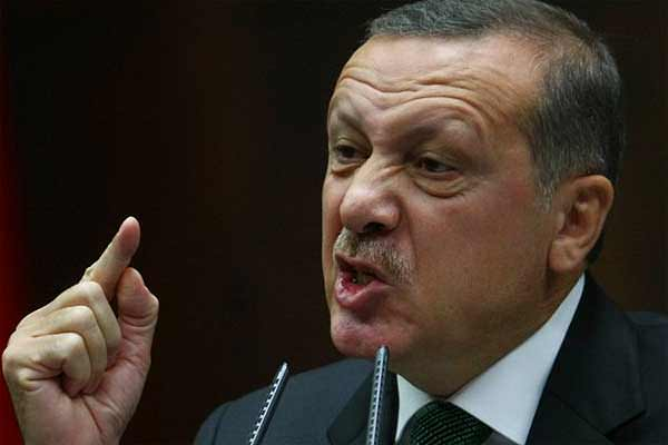 Erdogan angry