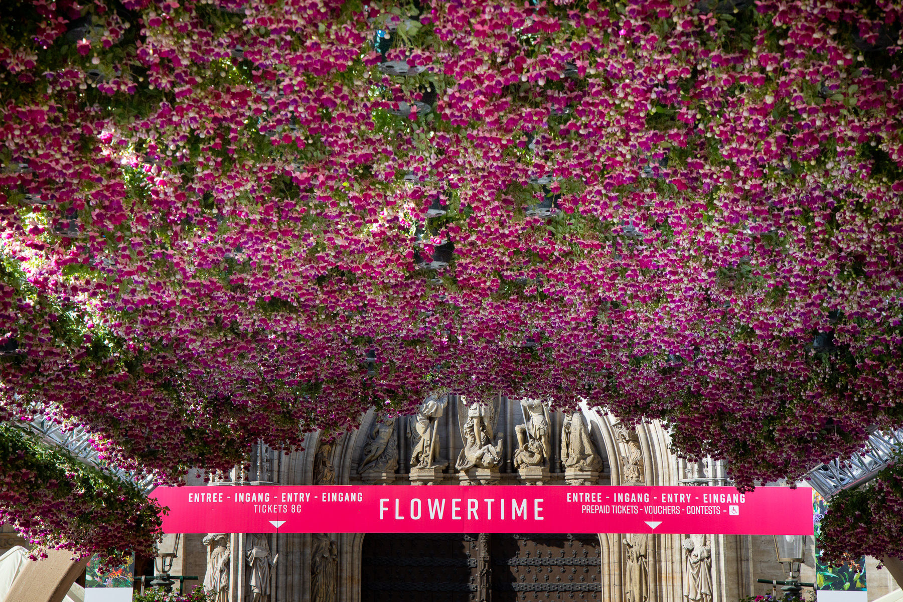 Flowertime: Brussels Town Hall becomes a Garden of Eden