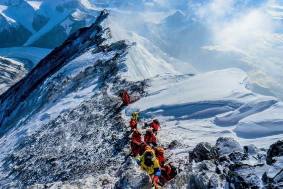 Nepali mountaineering association calls for cleaning up Mount Qomolangma amid COVID-19 crisis