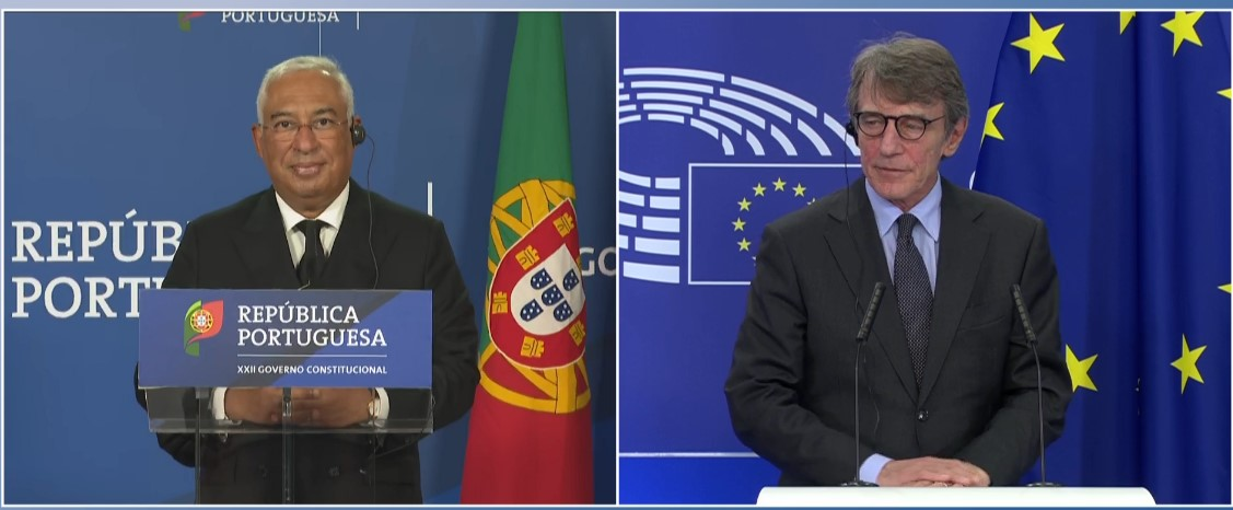 Sassoli with Costa: Strengthening our social model is key to Europe's recovery