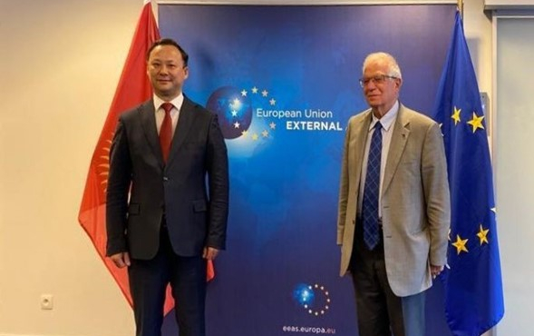 The Minister of Foreign Affairs of the Kyrgyz Republic met the EU High Representative for Foreign and Security Policy